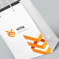 """Фирменный стиль для компании """"НТПК"""" Подарочный пакет"""