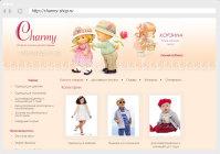 Интернет магазин детской одежды Сharmy  joomla + opencart