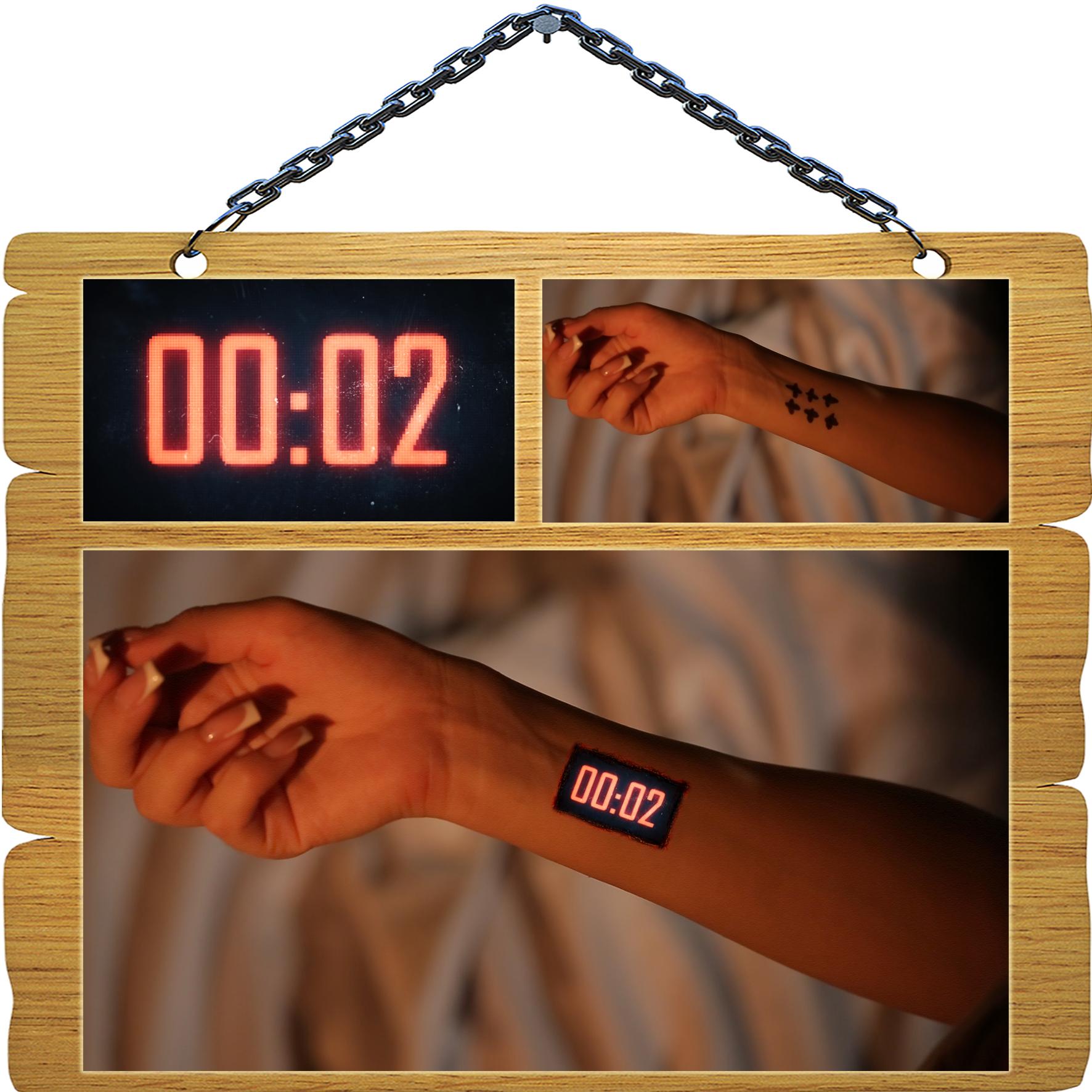 Фотомонтаж - Внедрение часов в руку