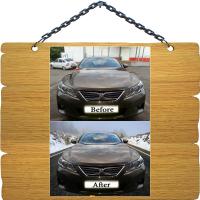 Замена фона, цветокоррекция  автомобиля