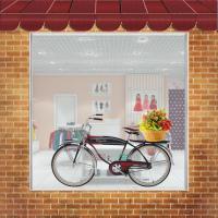 Самоклейка на витрину 1,5х1м_Велосипед