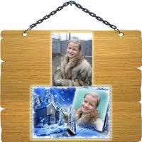 Вставка фотографии в рамку - Зима