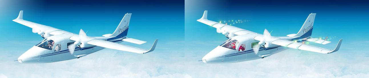 Новогоднее оформление самолета