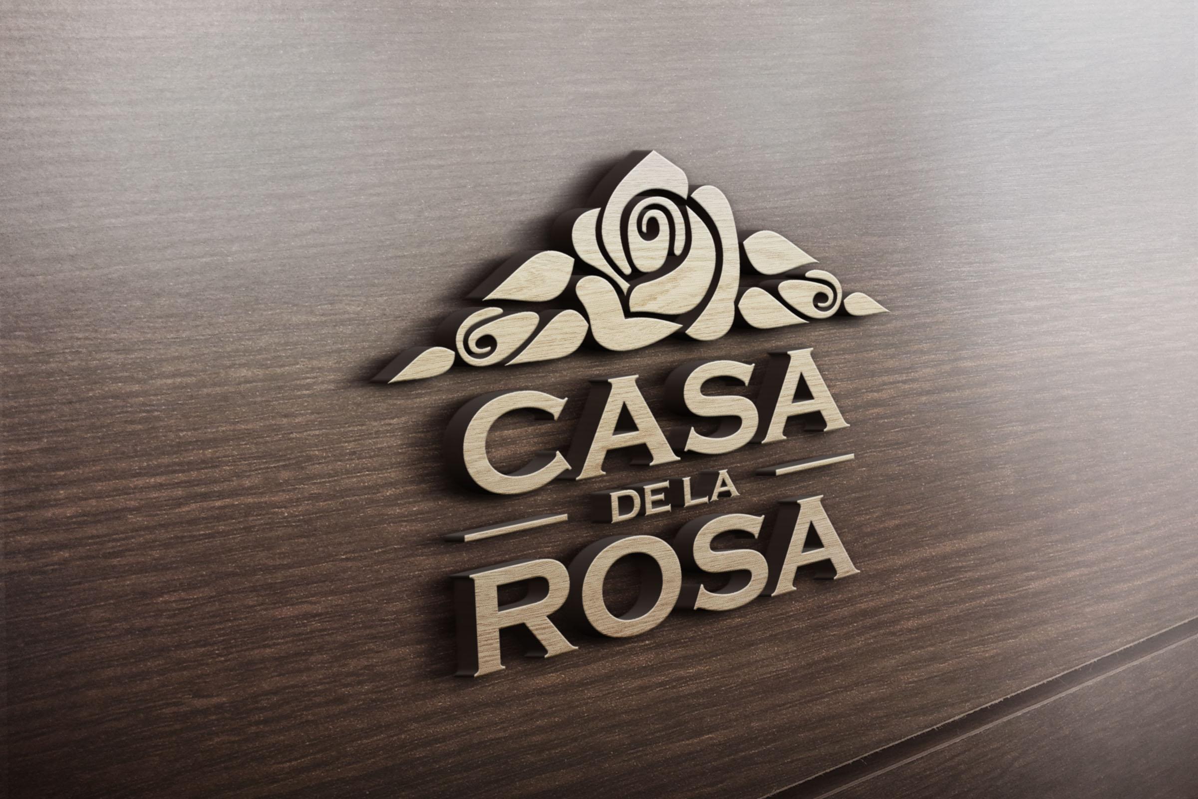 Логотип + Фирменный знак для элитного поселка Casa De La Rosa фото f_1115cd606dc571fd.jpg
