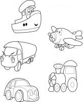 Для раскраски (транспорт)