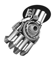 Вектор металлической руки