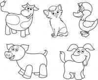 Для раскраски (животные)