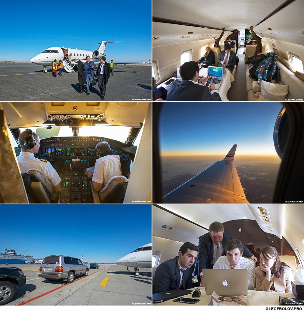 «Рабочие будни» профессионального фотографа. Фотосъёмка и рабочий процесс в VIP самолёте