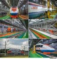 Железнодорожный транспорт в депо Санкт-Петербурга