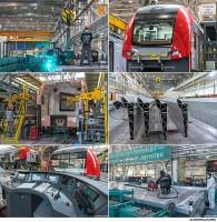 Промышленный репортаж с предприятий по производству электропоездов Ласточка