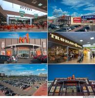 Архитектурная и интерьерная фотосъемка торгового центра.