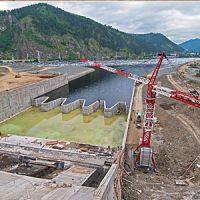 Саяно-Шушенская ГЭС. Промышленная аэросъемка.