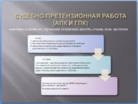 Судебно-претензионна я работа (АПК и ГПК)