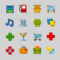 """Иконки для """"Карты Mail.ru"""""""