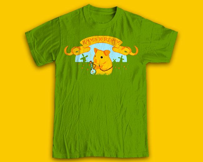"Принт на футболку ""Hamsterdam"""