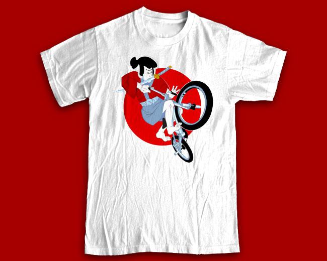 """Принт на футболку """"Путь самурая"""""""