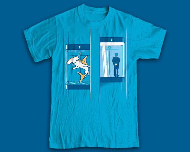 """Принт на футболку """"Business Shark"""""""
