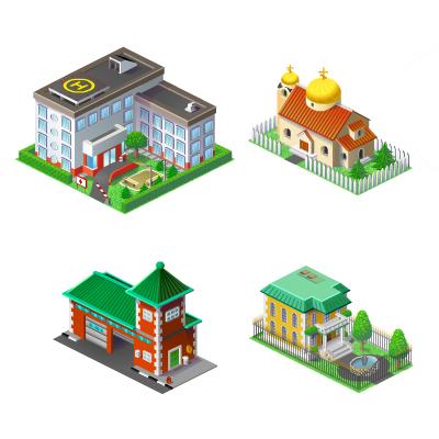 Здания для приложения Вконтакте