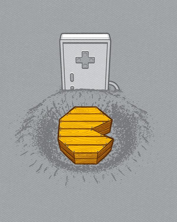 """Принт на футболку """"Pacman is dead"""""""