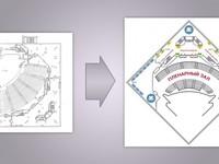 Отрисовка схемы в векторе по чертежу, карте, эскизу