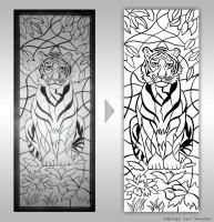 Тигр (отрисовка)