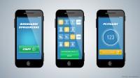 Дизайн мобильного приложения (3 страницы)
