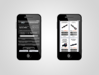 """Мобильная версия сайта """"Оптические прицелы"""" (3 страницы, дизайн)"""