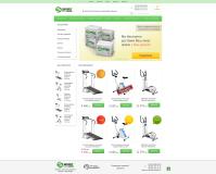 Интернет-магазин тренажеров (верстка + интеграция на Opencart)