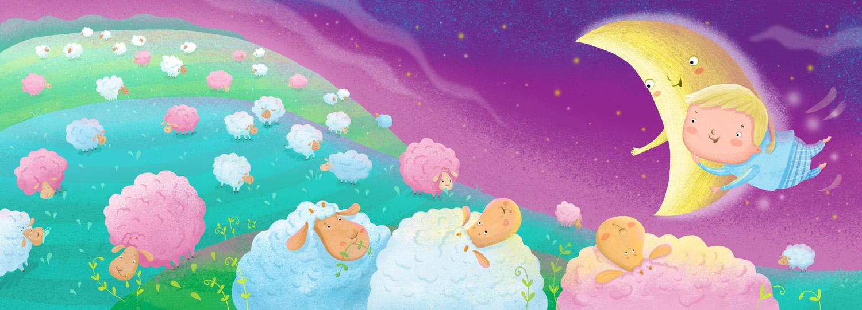 """Иллюстрации для детской книжки """"Доброй ночи"""""""