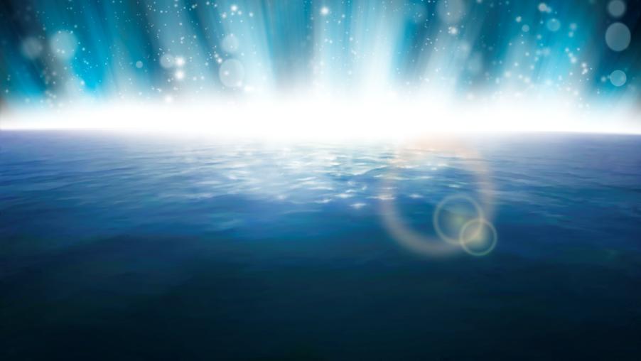 """Иллюстрации для проекта """"Bible Media"""". 2-я сцена - создание света."""