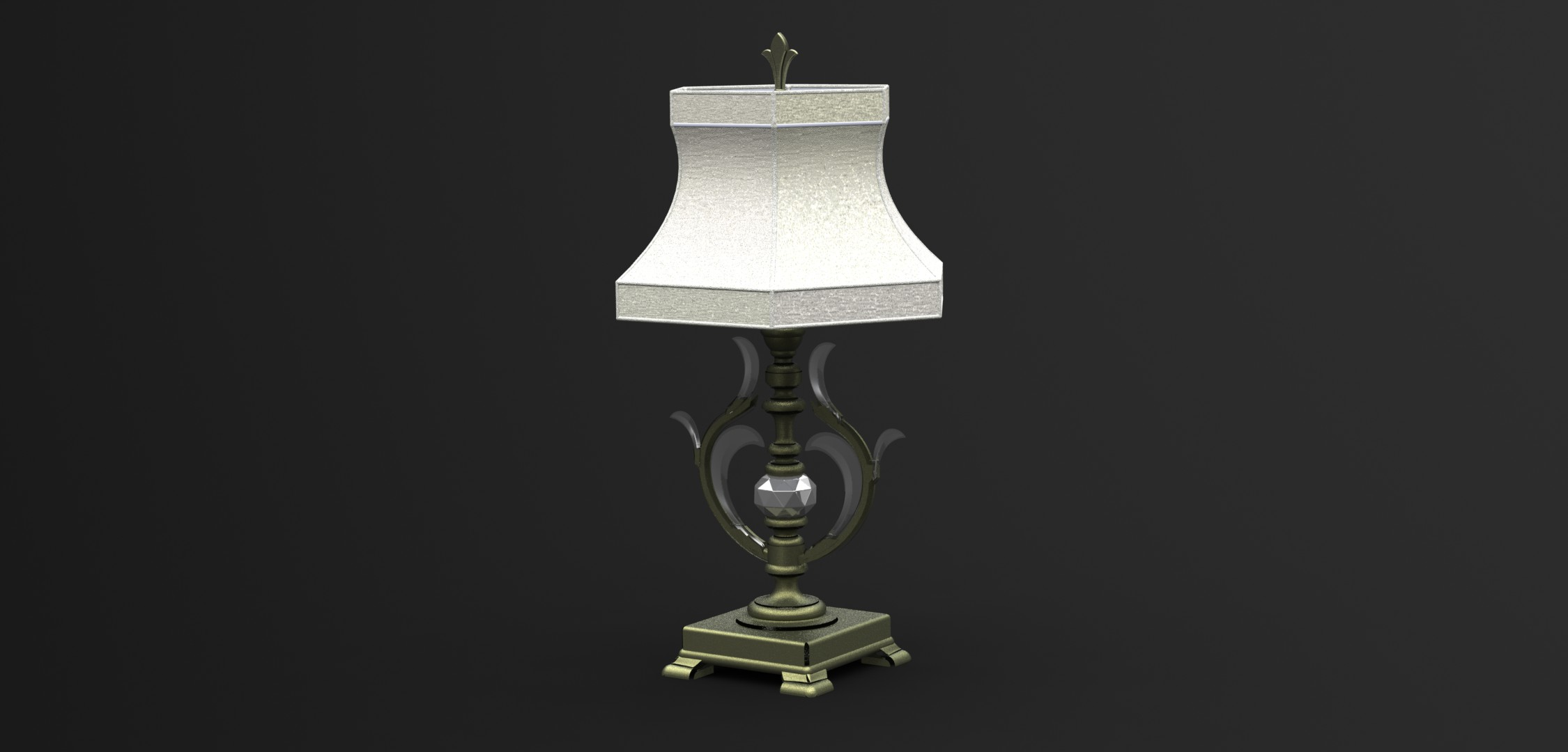 Создание детализированной 3д модели светильника с последующим рендерингом