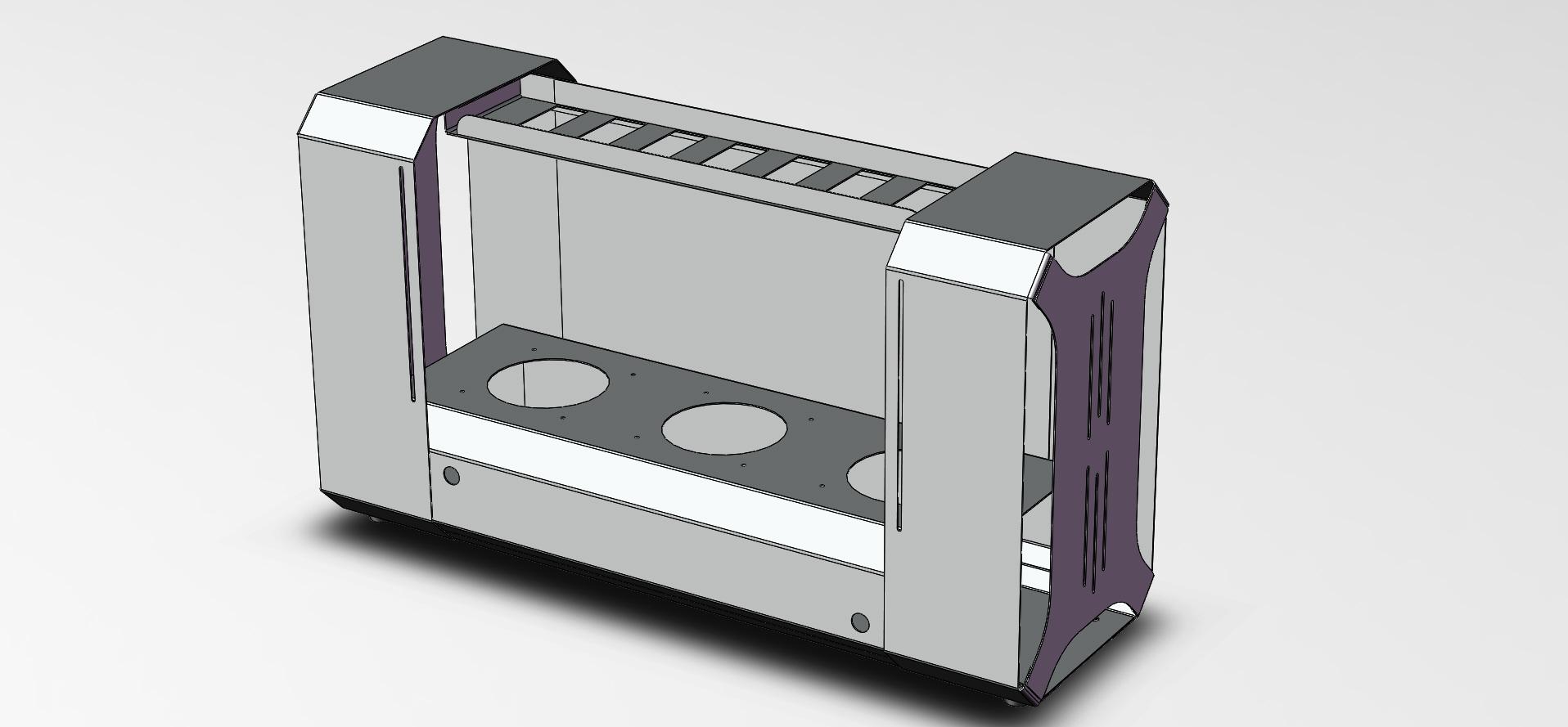 Создание 3д модели и чертежей под резку и гибку листового металла(корпус ПК)