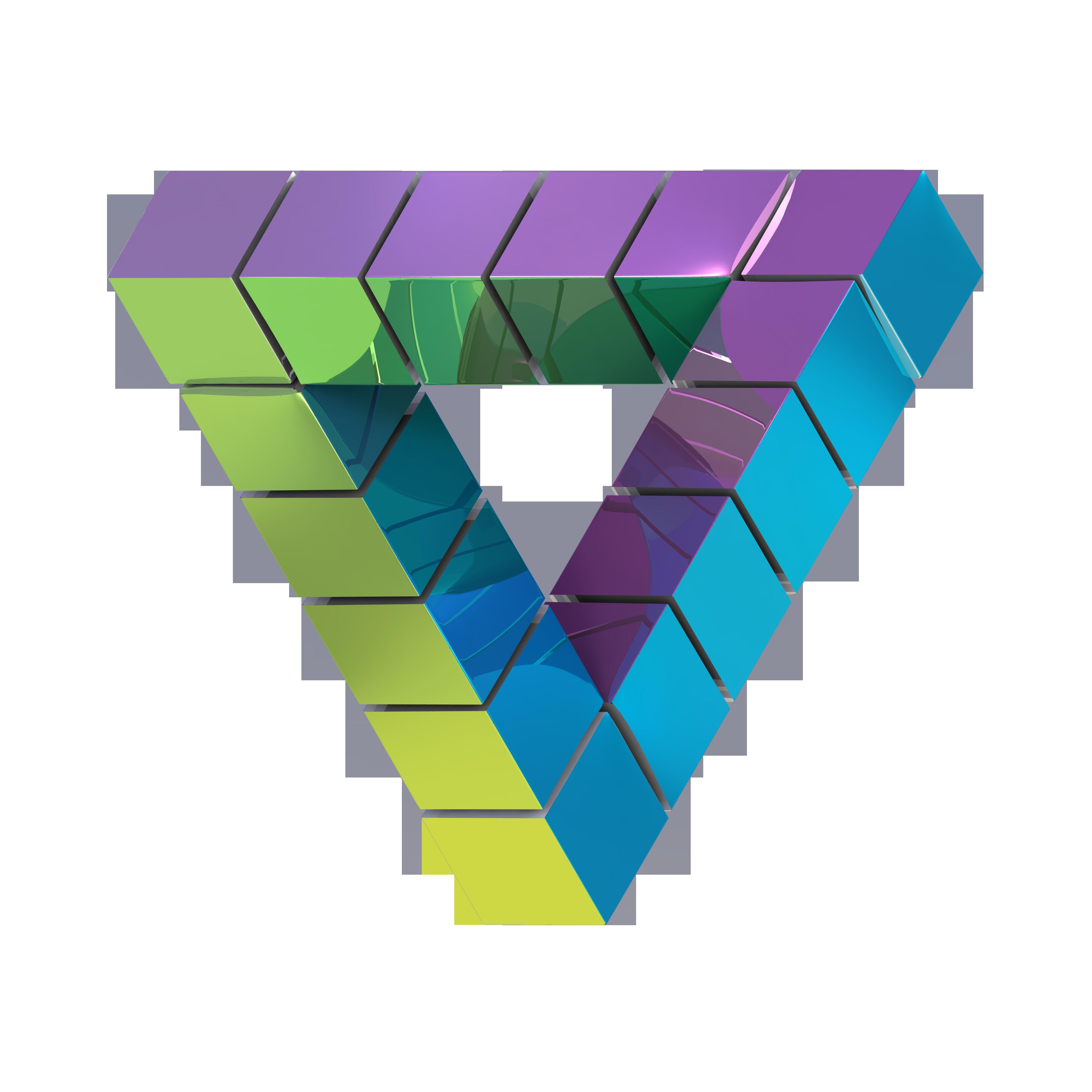 Моделирование невозможного треугольника( для первостепенной задачи визуализации и создания слайдов под меню сайта)