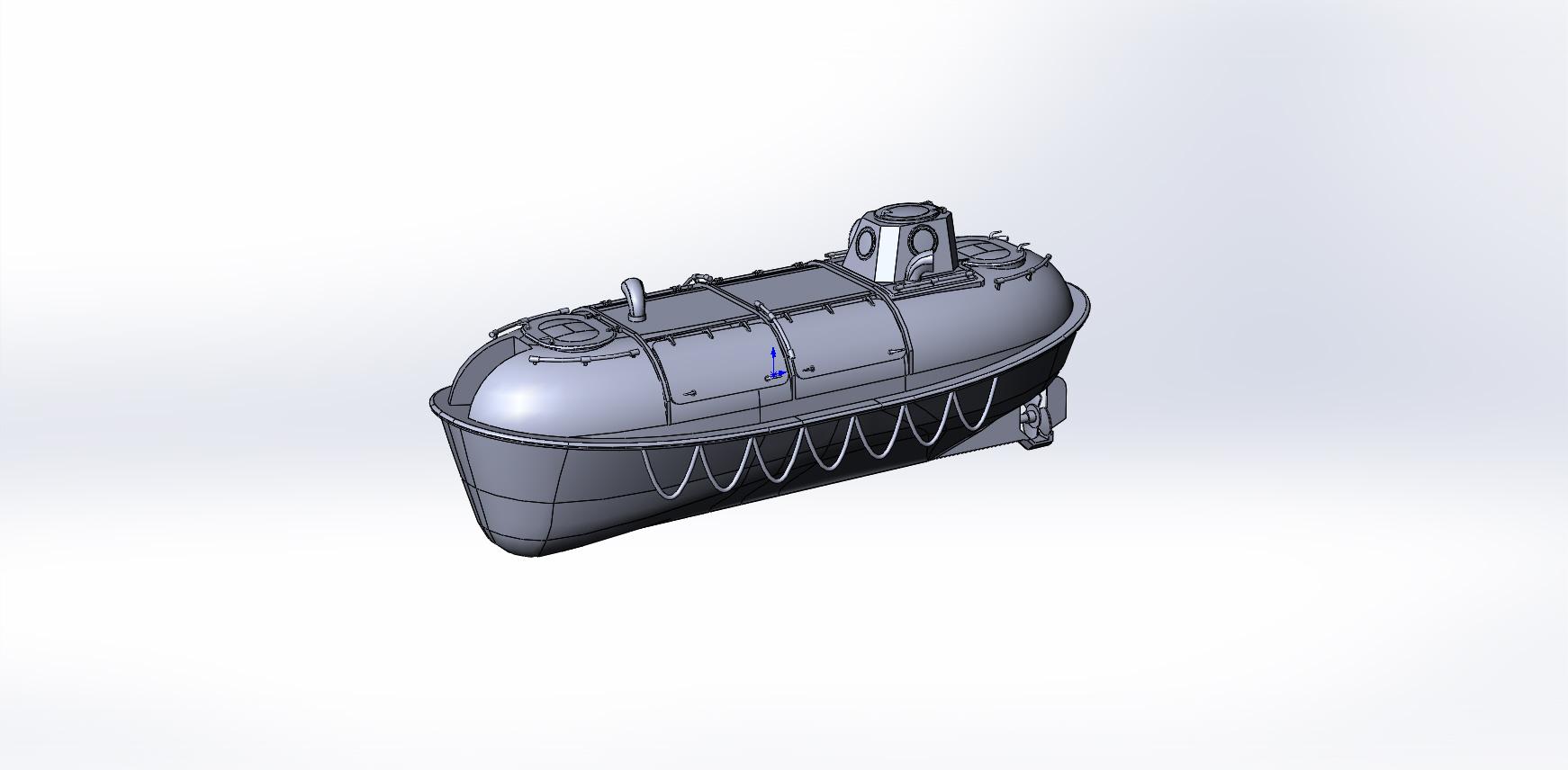 Моделирование спасательной шлюпки типа ЗСШМП(без текстурирования, подготовка макета к печати)