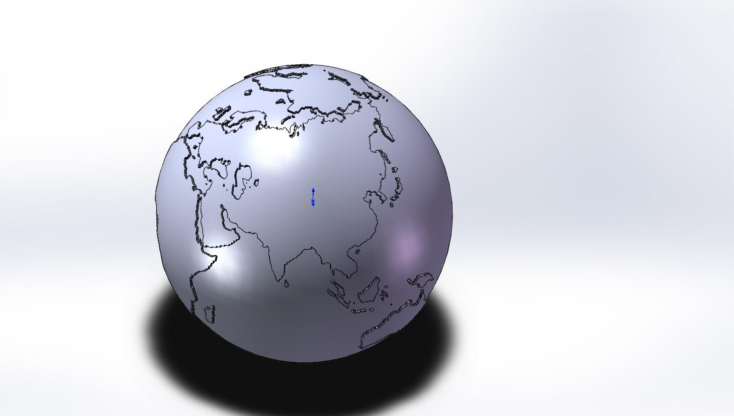 Модель земли для последующей печат