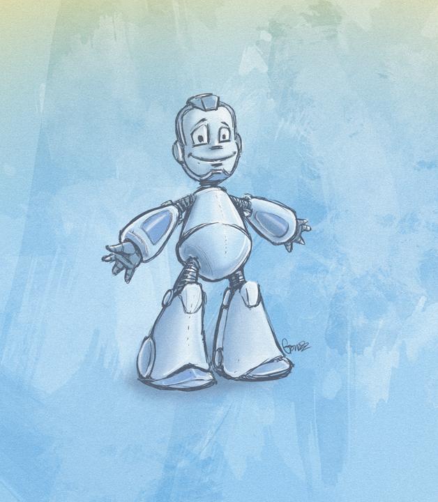 """Модель Робота - Ребёнка """"Роботёнок"""" фото f_4b4e2cf2d3789.png"""