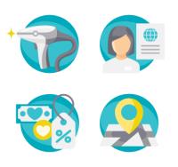 Иконки для косметической клиники