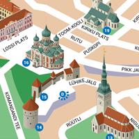 Tallinn. Таллин. Карта и достопримечательности