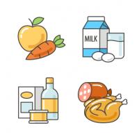 """Иконки для интернет-магазина продуктов питания """"ВкусГрад"""""""