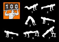 Иконка-логотип и рисунки упражнений для мобильного приложения