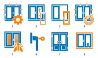 Иконки для компании по ремонту окон