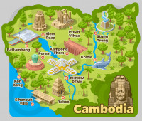 Карта Камбоджи 2