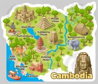 Карта Камбоджи 1