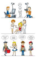 Иллюстрации для сервиса курсов