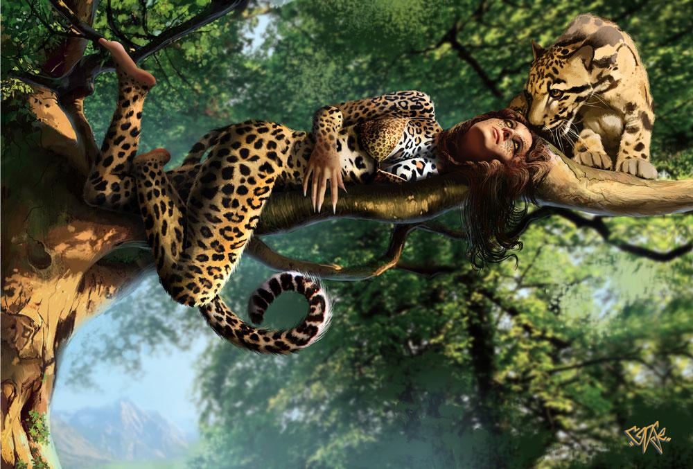 с леопародом