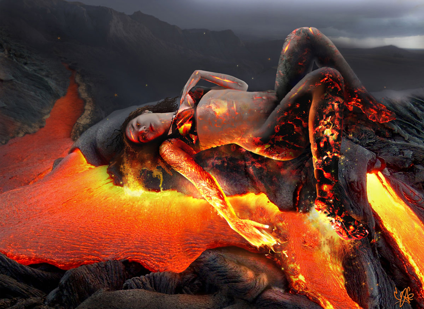 Нимфа огнь