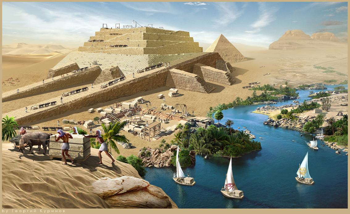 mattepaint строительство  в др. Египте