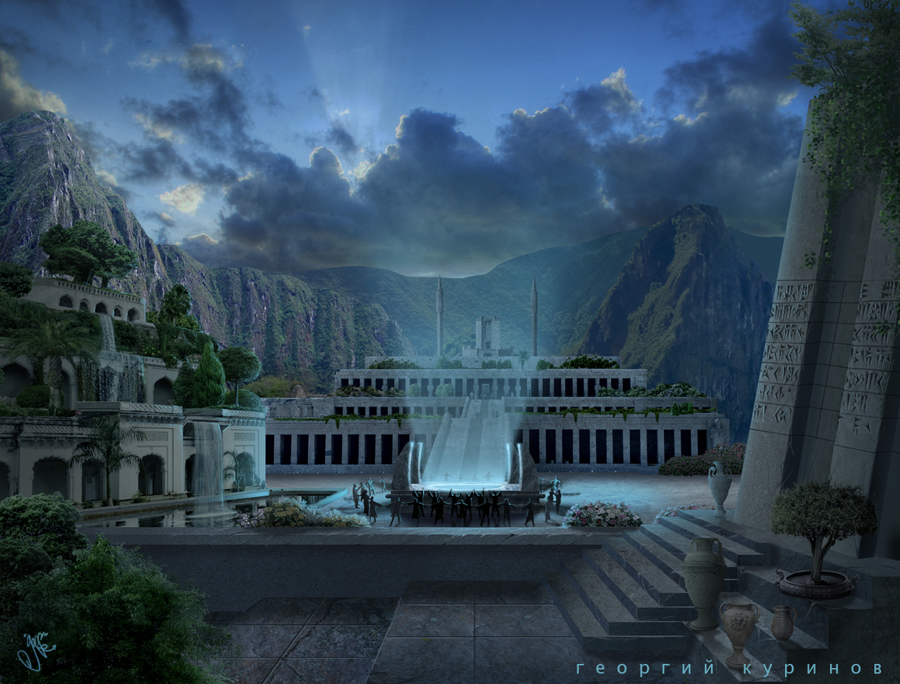 Lords of Atlantis [Game Trailer] mattepaint к заставке 3