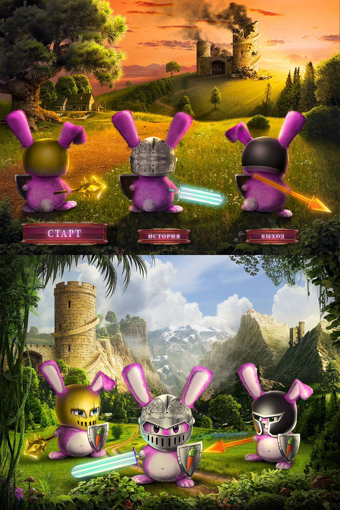 игра для ipad 3 Rabbits заставка