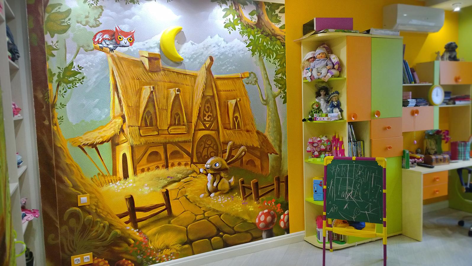 Художественная роспись в детской комнате